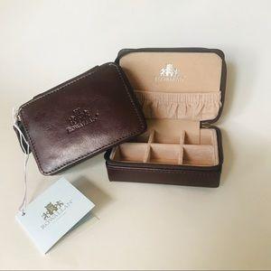 Rowallan Leather Travel Jewelry Keeper - NWT